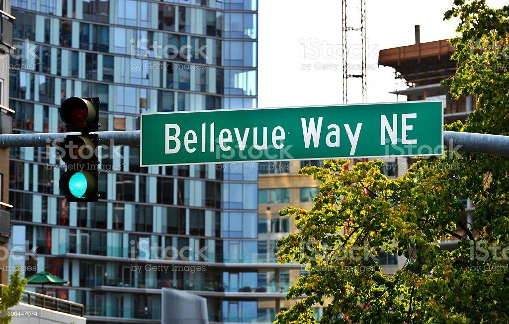 Bellevue Way NE, 벨뷰를, 워싱턴 스톡 사진