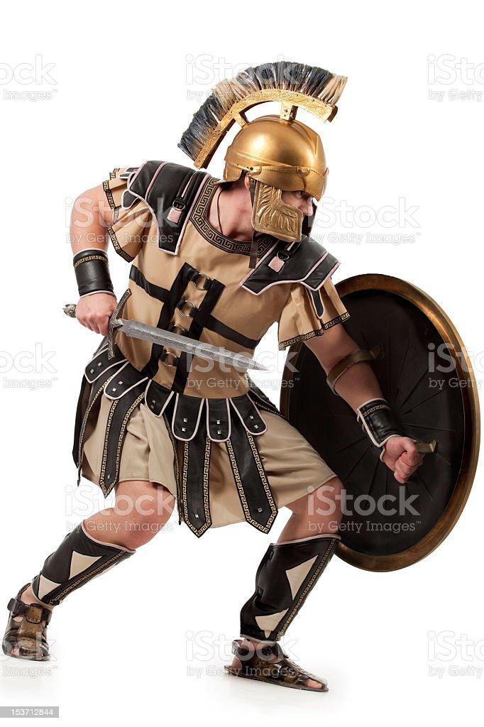 Belligerent  gladiator royalty-free stock photo