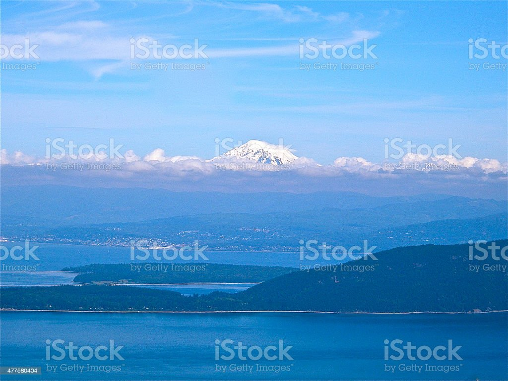 Bellingham Bay and Mt. Baker stock photo