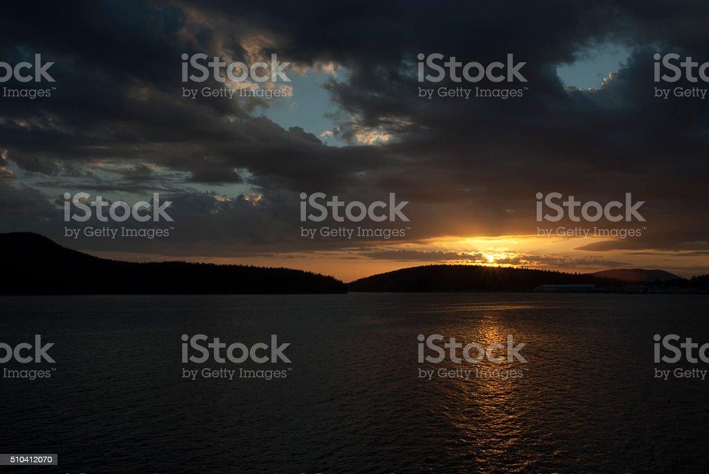 Bellingham Bay, WA stock photo