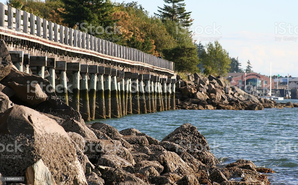 Bellingham Boardwalk stock photo