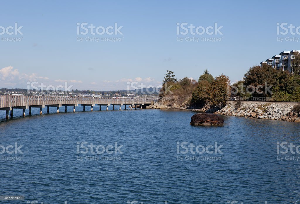 Bellingham Pier stock photo