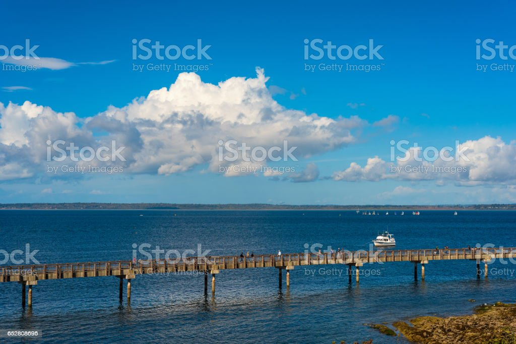 Bellingham Pier walk stock photo