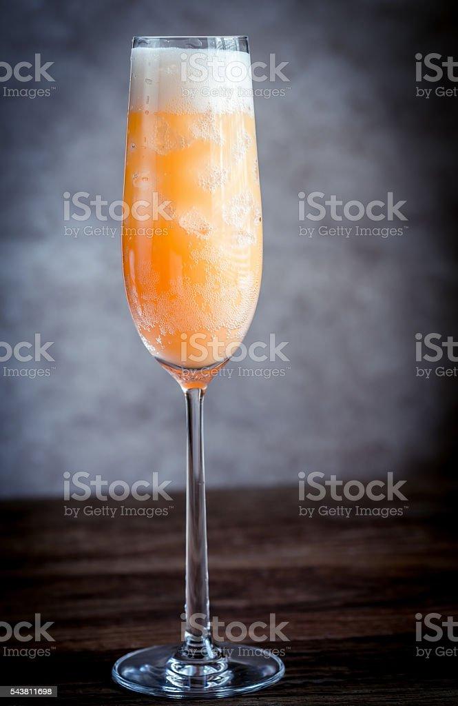 Bellini cocktail stock photo
