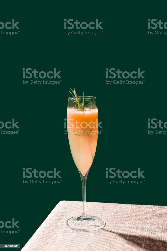 Bellini cocktail, pop contemporary style stock photo