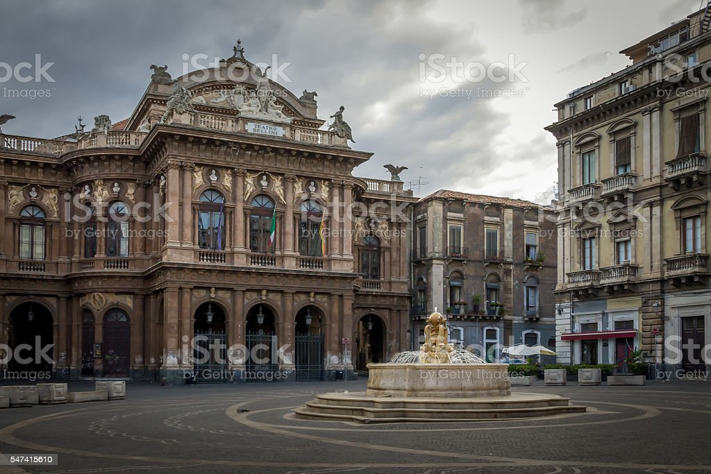 Bellini Theater in Catania - Sicily, Italy stock photo
