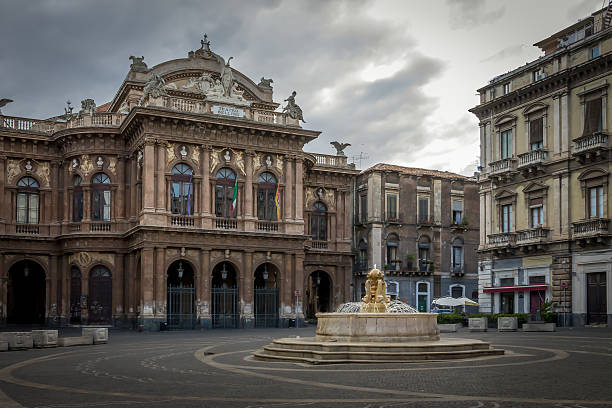 Bellini Theater in Catania - Sicily, Italy Bellini Theater in Catania - Sicily, Italy catania stock pictures, royalty-free photos & images