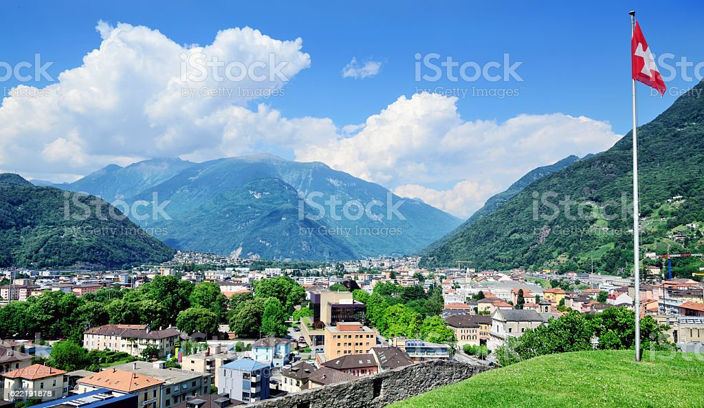Bellinzona, Switzerland stock photo