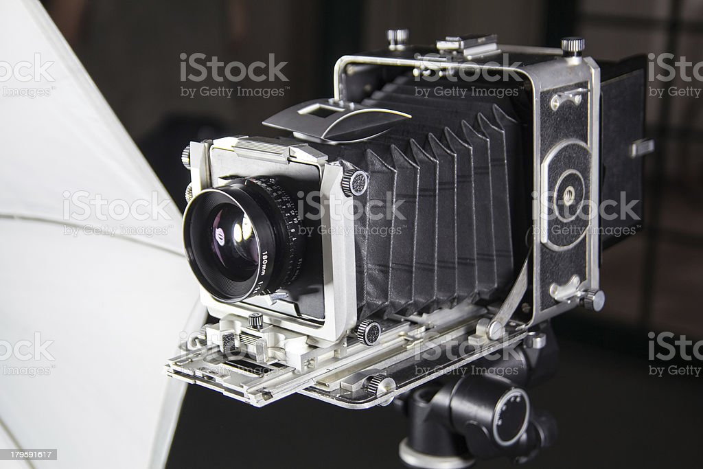 Bellows camera in studio royalty-free stock photo