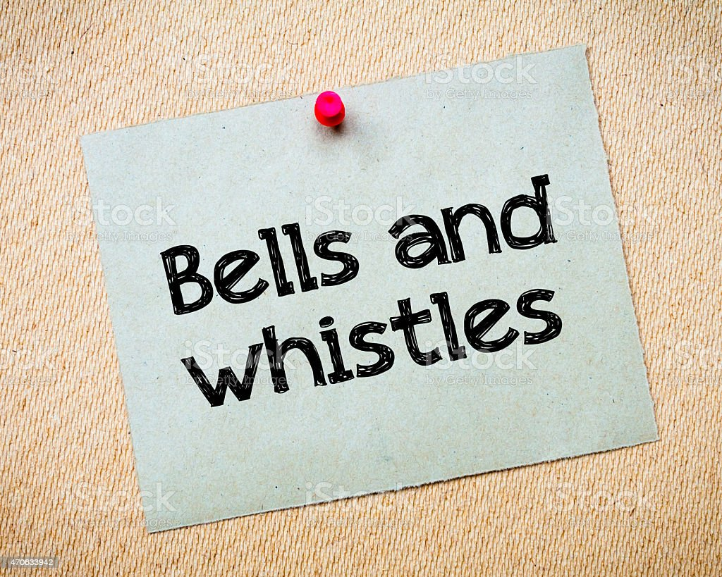 Bells and whistles stock photo