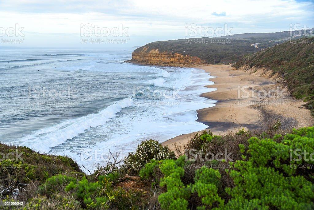 Bells Beach near Torquay, Australia stock photo
