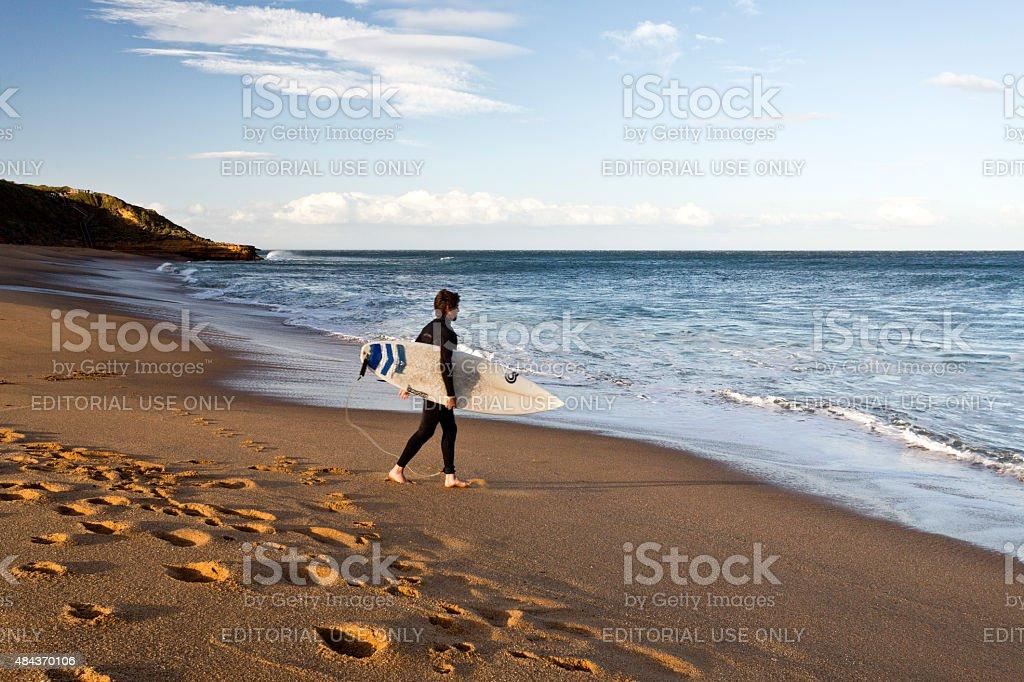 Bells Beach Surfer stock photo