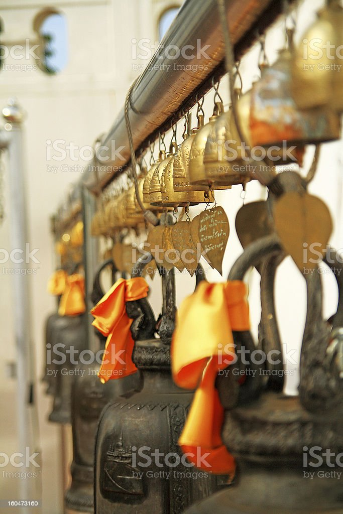 Bells in Golden Mount Temple royalty-free stock photo