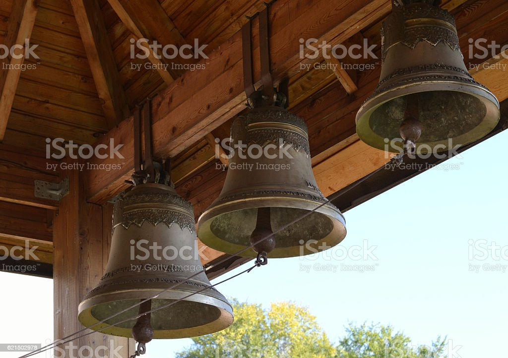 Bells of an orthodox temple. foto stock royalty-free