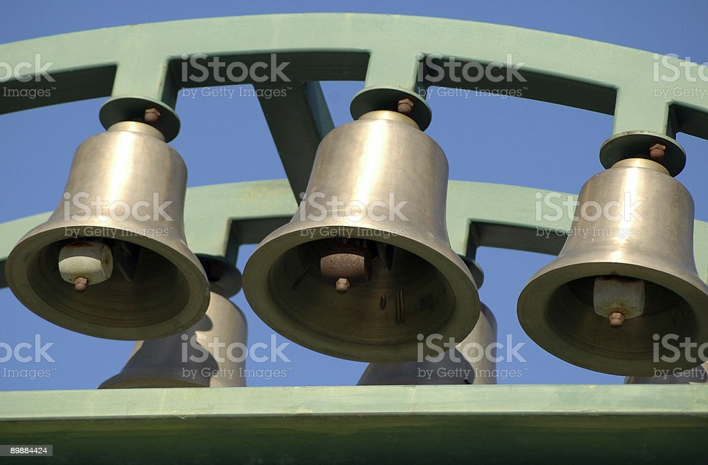 Bells of carillon stock photo