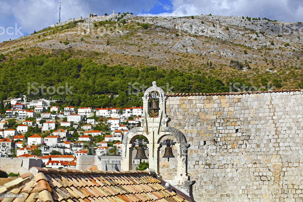 Bells of Dubrovnik, Croatia royalty-free stock photo
