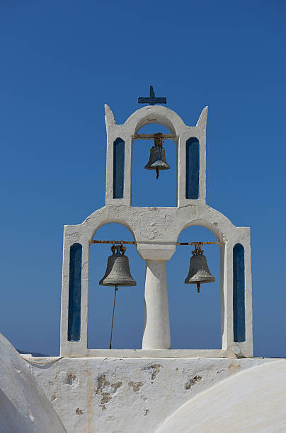 Bells of  Panagia theoskepasti stock photo