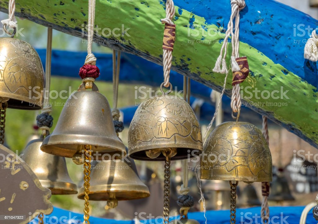 Bells of peace stock photo