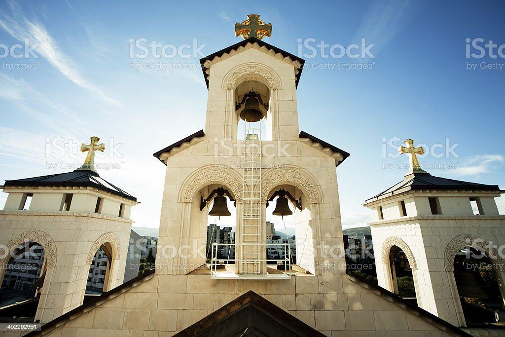 Bells of Resurrection temple stock photo
