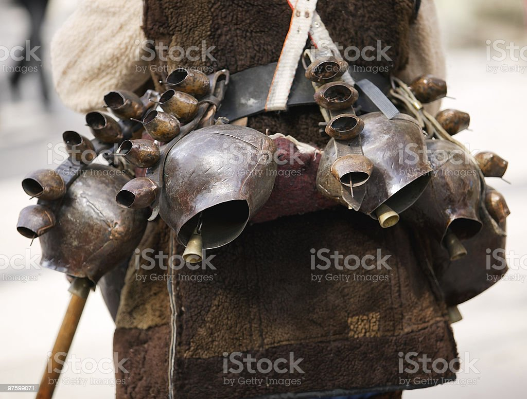 Bells of traditional kuker royalty-free stock photo