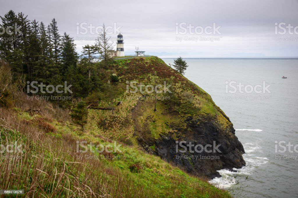 Bell's Overlook  at Cape Disappointment State Park stock photo