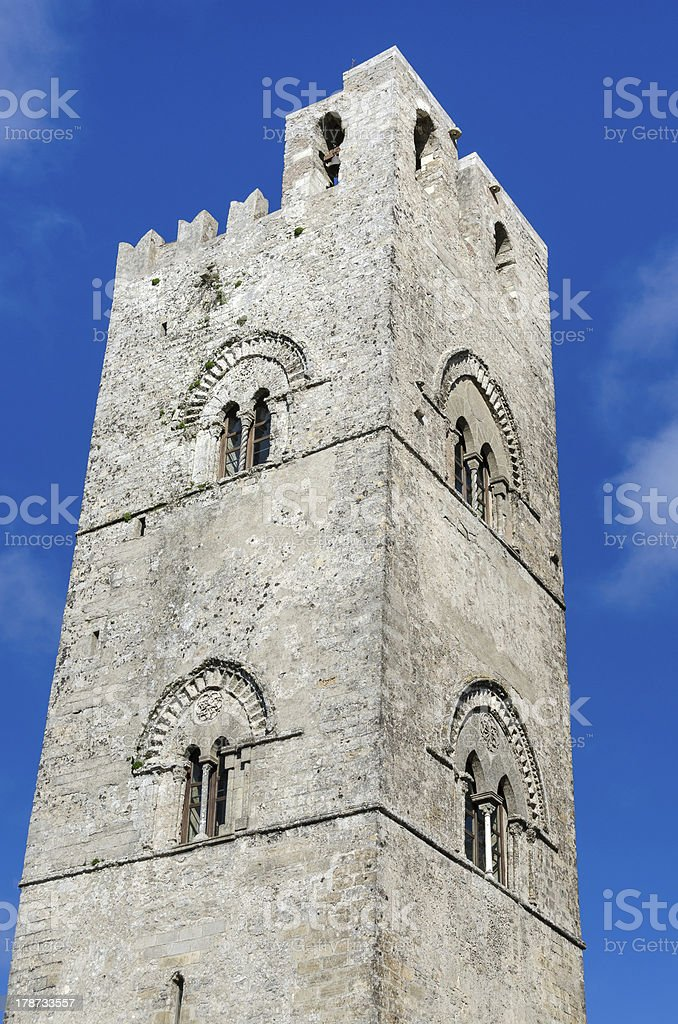 bells tower in Erice royalty-free stock photo