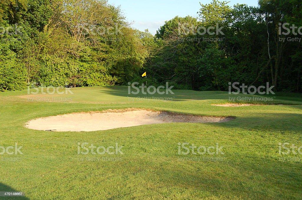 Bellshill golf course, Scotland stock photo