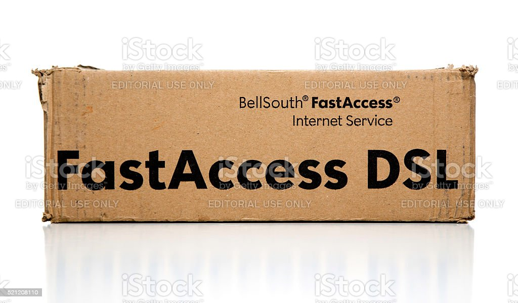 Bellsouth FastAccess DSL internet kit box stock photo