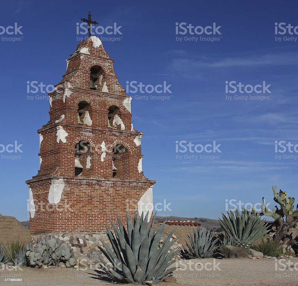 Belltower Gateway to Mission San Miguel stock photo
