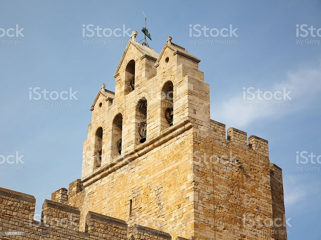 belltower of Notre Dame de la Mer royalty-free stock photo