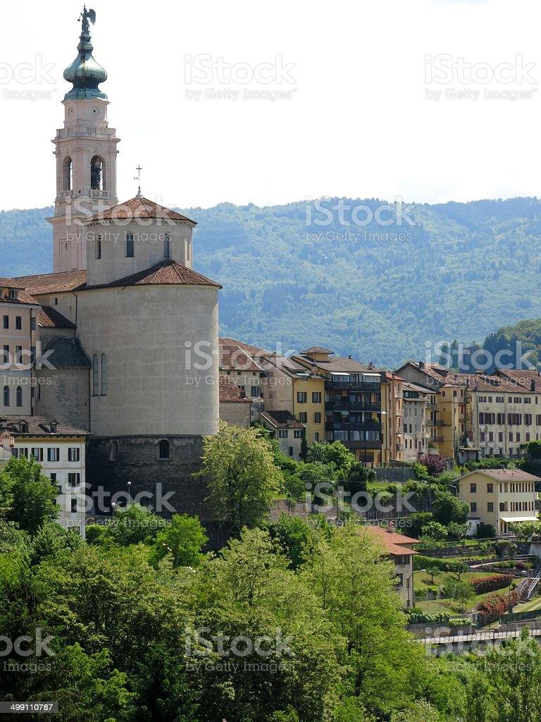 Belluno Italia, Chiesa cittadina - foto stock