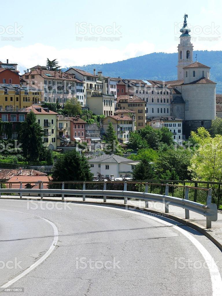 Belluno Road Town, Italia - foto stock