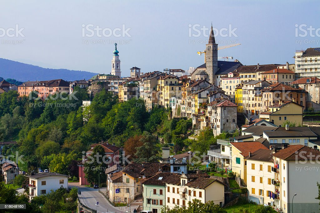 Belluno- vista del Duomo - foto stock