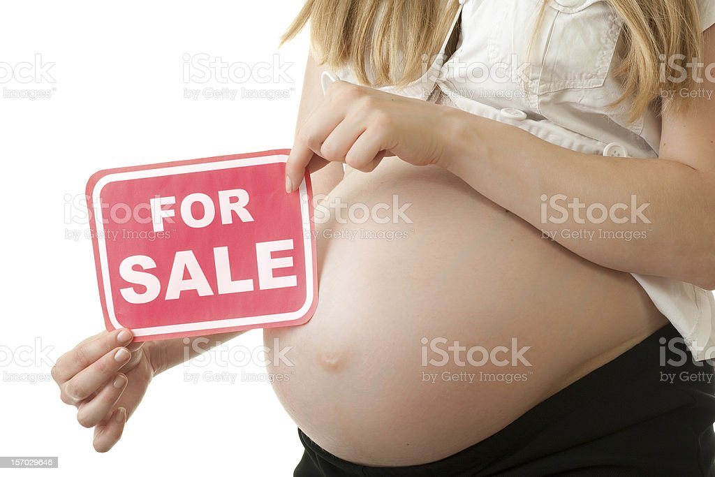 Belly for sale stock photo