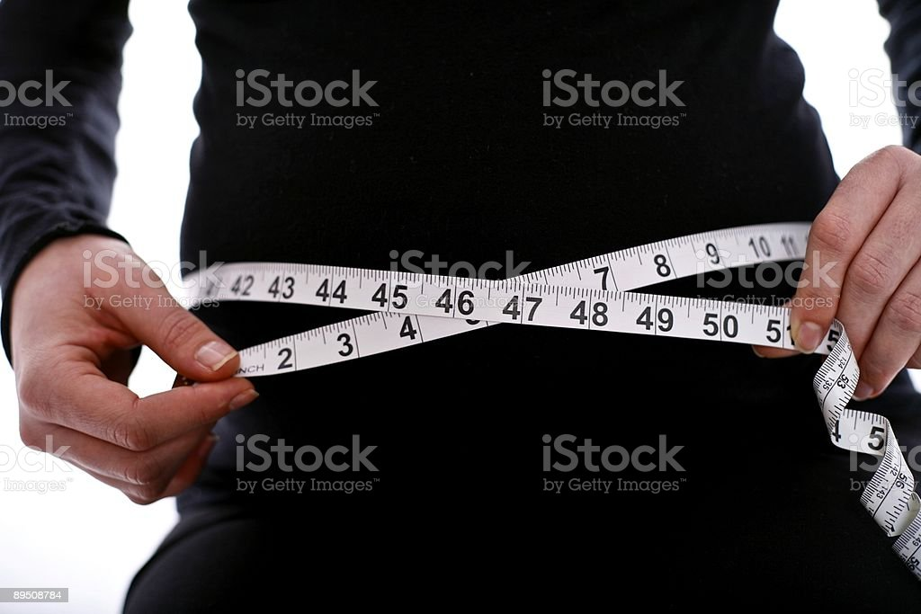 Belly Measurement royalty-free stock photo
