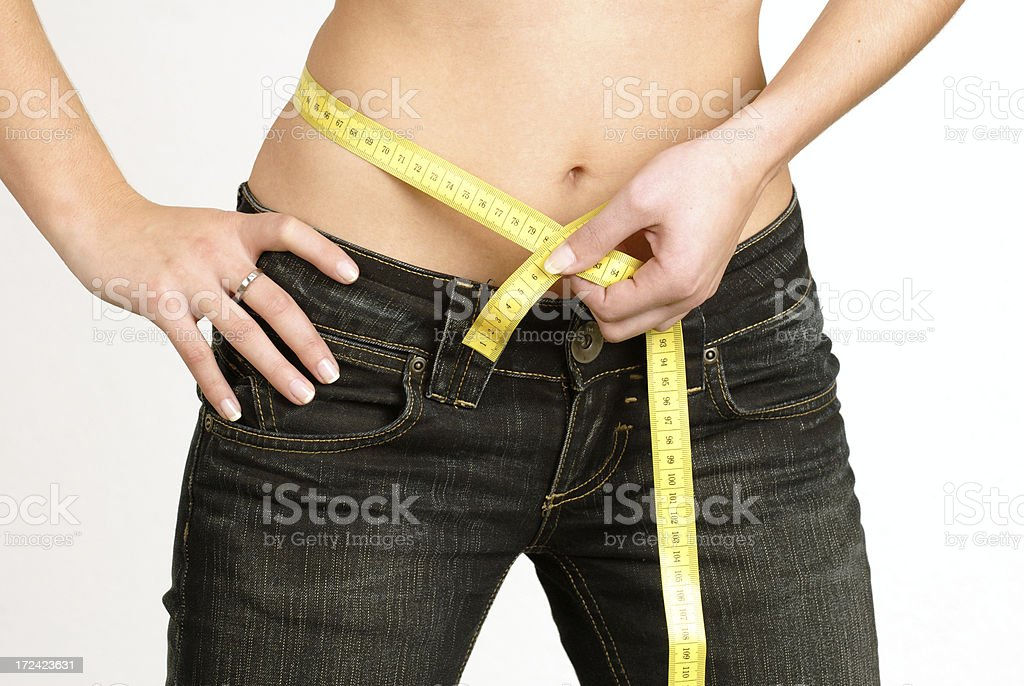 belly measurements royalty-free stock photo