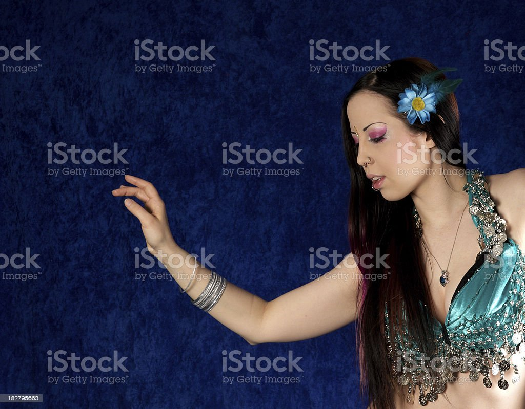 Bellydancer doing arm move. royalty-free stock photo