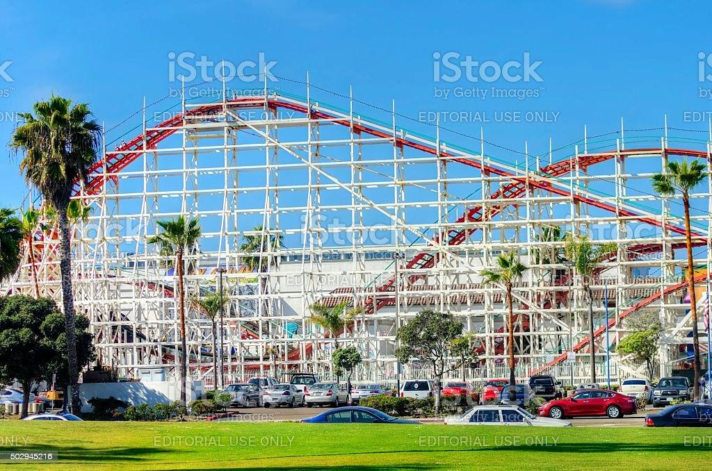 Belmont Park, San Diego, CA stock photo
