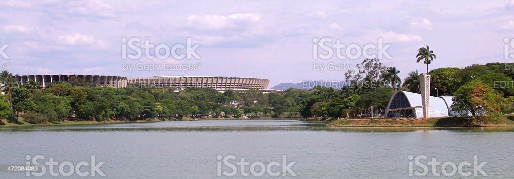 Belo Horizonte-Pampulha Lagoon stock photo