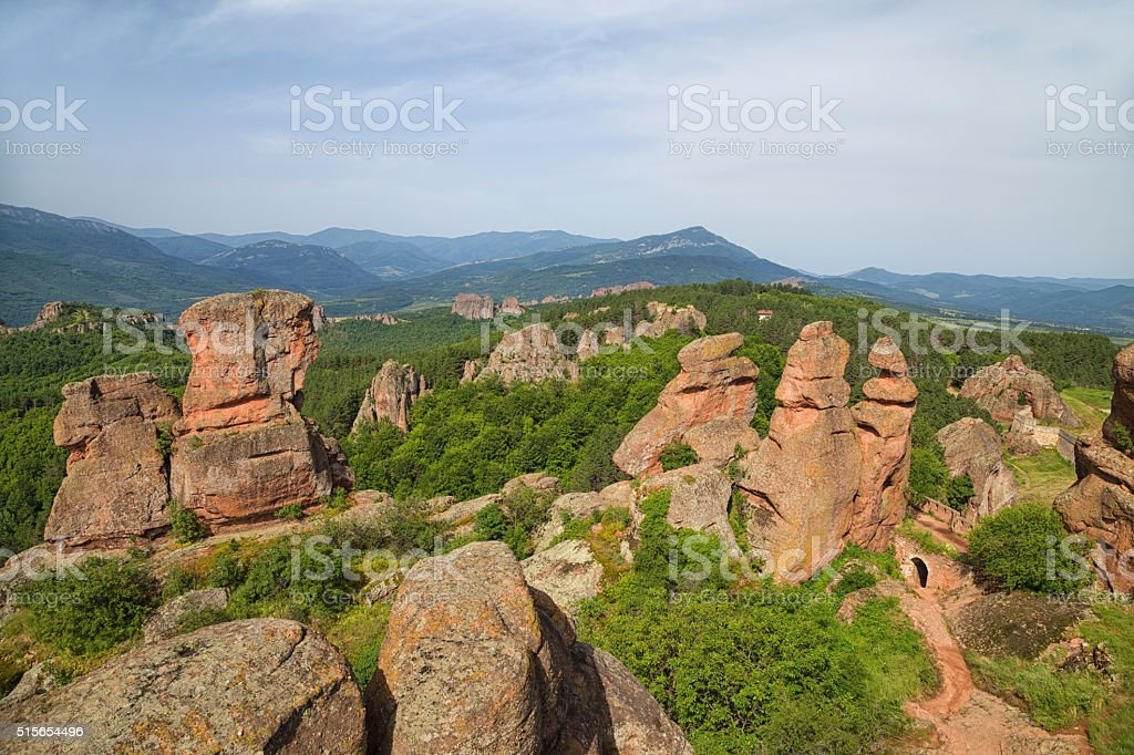 Belogradchik fortress and the rocks stock photo