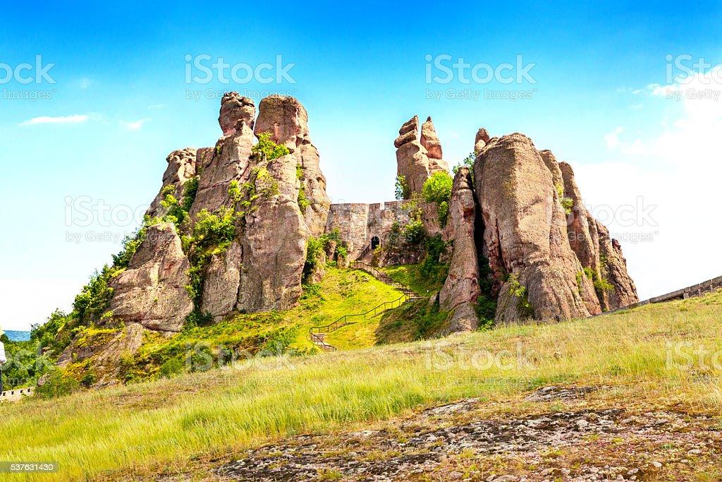 Belogradchik Kaleto, ancient fortress, tourist attraction stock photo