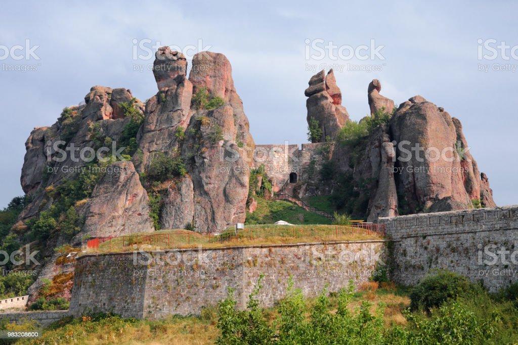 Belogradchik Rocks and ancient Kaleto Fortress, Bulgaria stock photo