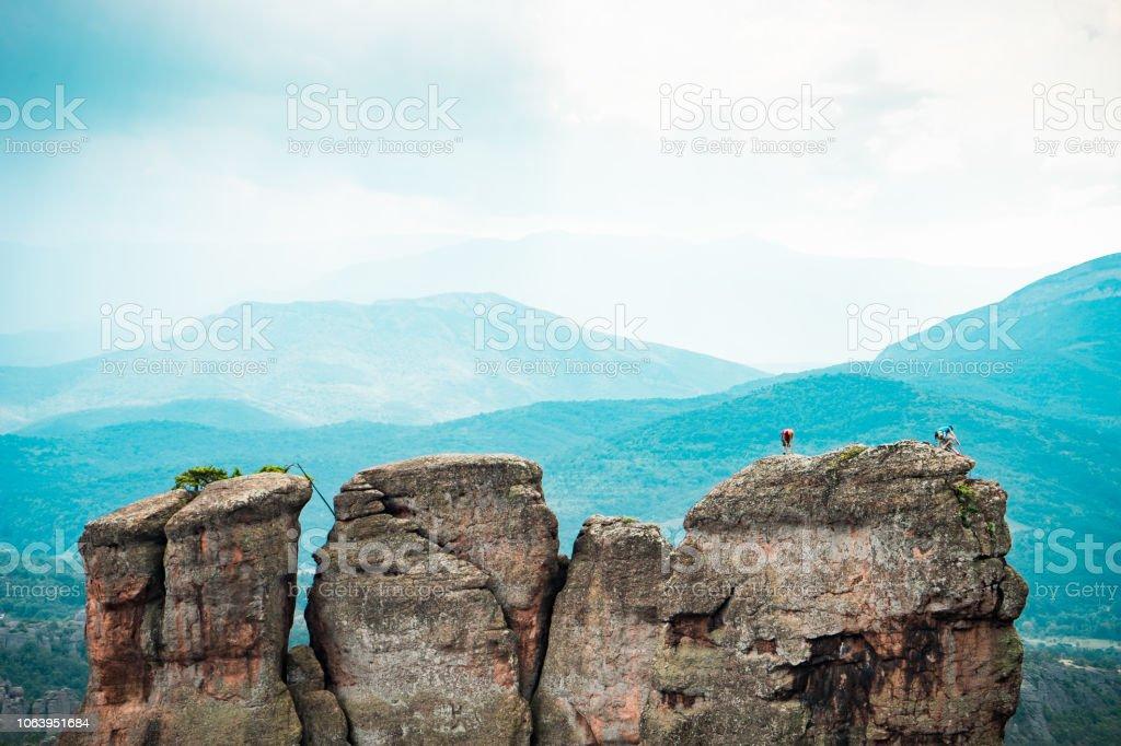Belogradchik Rocks, Bulgaria stock photo