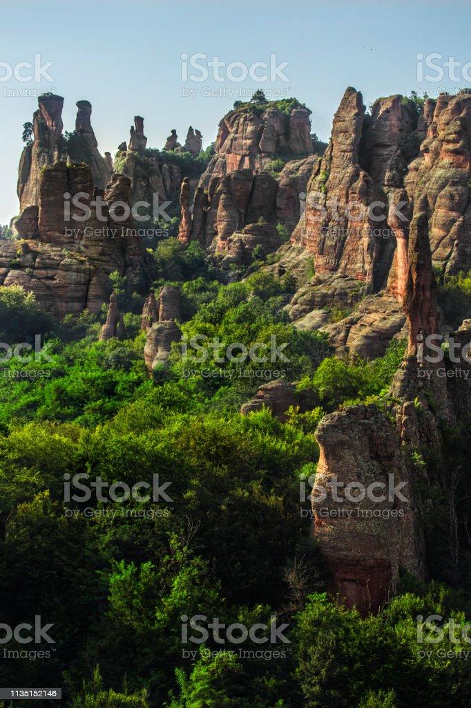 Belogradchik rocks stock photo