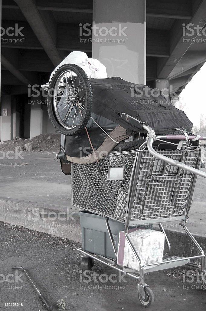 Belongs to Homeless royalty-free stock photo