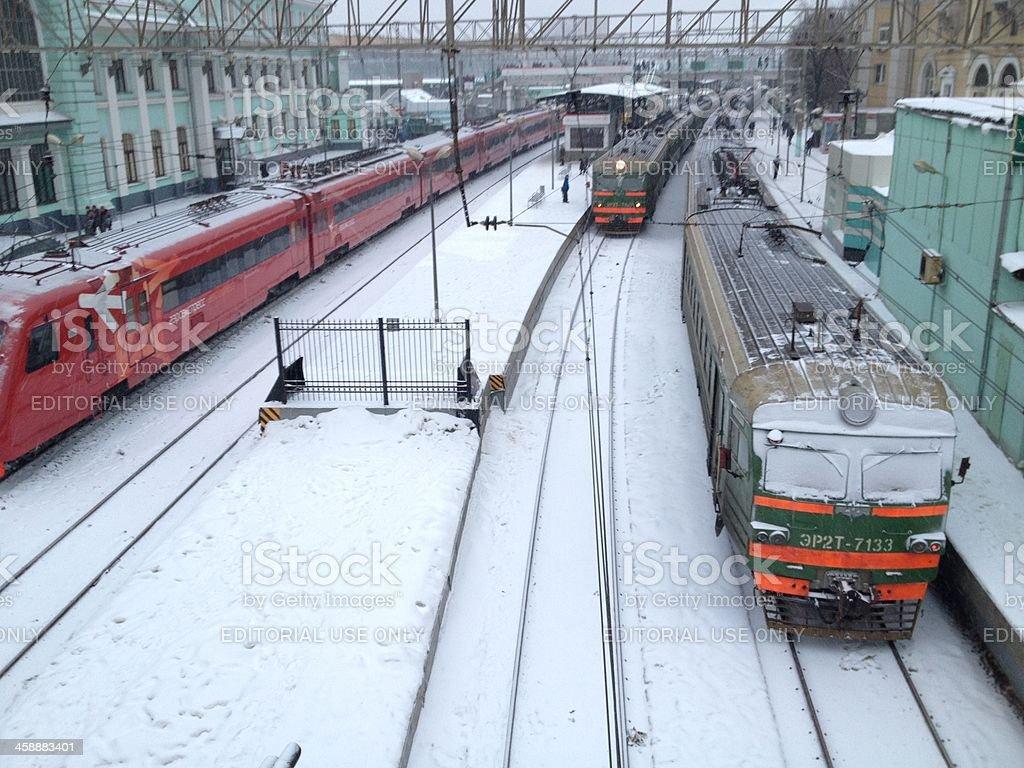 Belorusskaya Station royalty-free stock photo