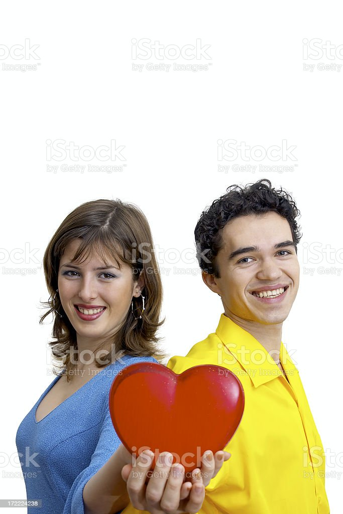 Beloved with a heart royalty-free stock photo