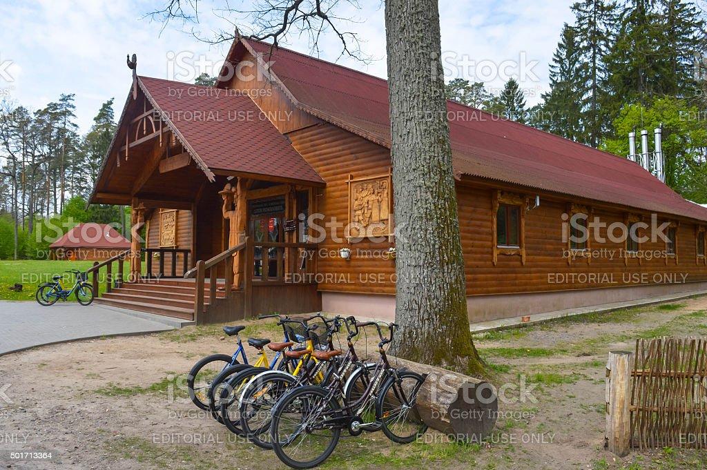 Belovezhskaya Pushcha nature reserve stock photo