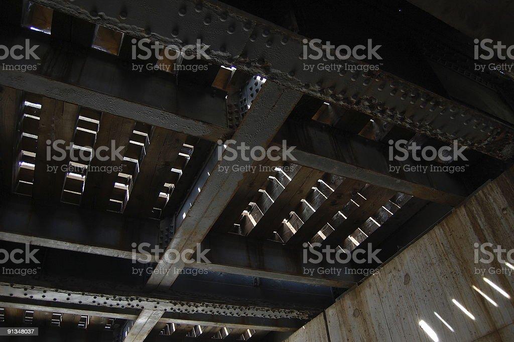 A continuación de ferrocarril - foto de stock