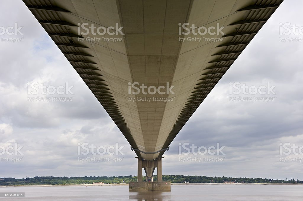 Below the Humber Bridge stock photo